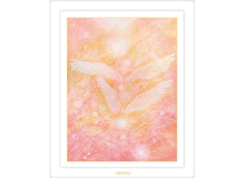 HIDEKIによるヒーリングアート/天使-いつも一緒