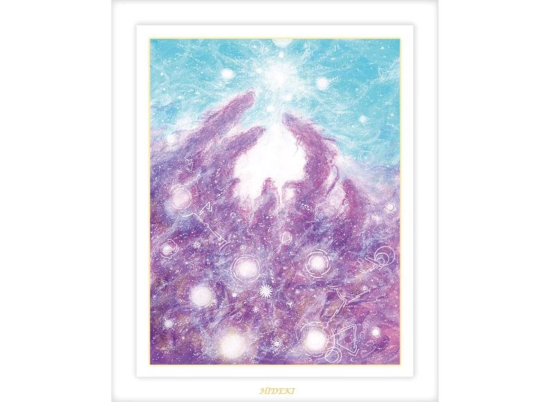 ヒーリングアート龍神を描くHIDEKIのアート