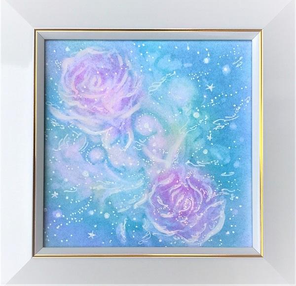 花は、わたし。あなた。パステルヒーリングアートの画像